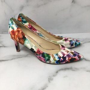 Nine West Floral Pump Heels Size 6.5